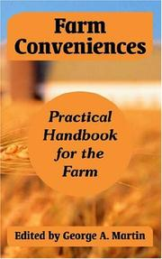 Cover of: Farm Conveniences | George A. Martin