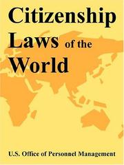 Cover of: Citizenship Laws Of The World