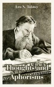 Cover of: Thoughts and Aphorisms