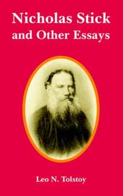 Cover of: Nicholas Stick and Other Essays