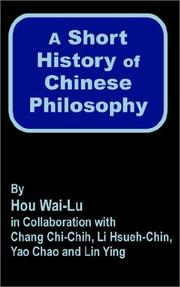 Cover of: A Short History of Chinese Philosophy