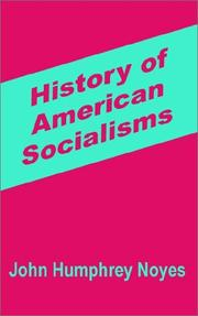 Cover of: History of American Socialisms