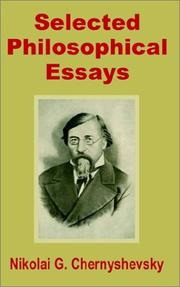 Cover of: Selected Philosophical Essays