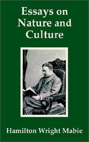 Cover of: Essays on Nature and Culture