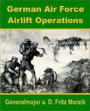 Cover of: German Air Force Airlift Operations