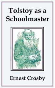 Cover of: Tolstoy As a Schoolmaster