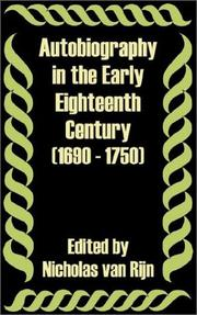 Cover of: Autobiography in the Early Eighteenth Century 1690 - 1750