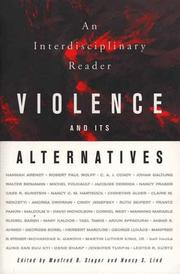 Cover of: Violence and Its Alternatives |