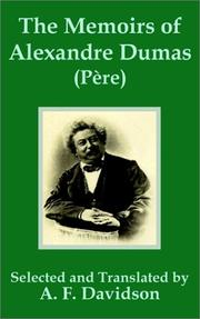 Cover of: The Memoirs of Alexandre Dumas