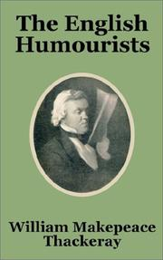 Cover of: The English Humourists | William Makepeace Thackeray