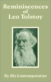 Cover of: Reminiscences of Leo Tolstoy