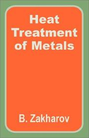 Cover of: Heat treatment of metals
