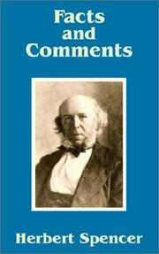 Cover of: Facts and Comments | Herbert Spencer