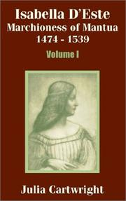 Cover of: Isabella D'Este: Marchioness of Mantua 1474 - 1539