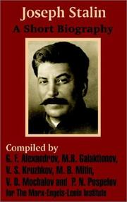 Cover of: Joseph Stalin