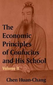 Cover of: The Economics Principles of Confucius and His School