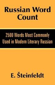 Cover of: Russian word count