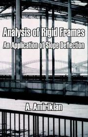 Cover of: Analysis of Rigid Frames