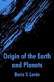 Cover of: Origin of the Earth and Planets