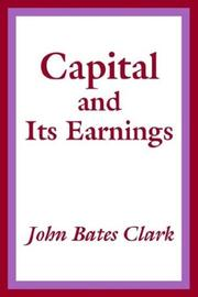 Cover of: Capital and Its Earnings