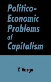 Cover of: Politico-economic problems of capitalism