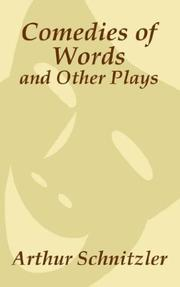 Cover of: Comedies of words and other plays