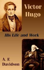 Cover of: Victor Hugo | A. F. Davidson