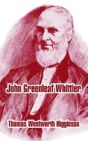 Cover of: John Greenleaf Whittier