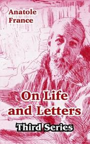 Cover of: On Life And Letters by Anatole France