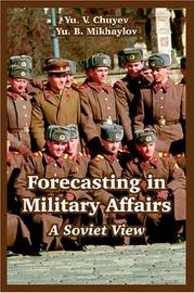 Cover of: Forecasting In Military Affairs | Yu V. Chuyev