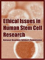 Cover of: Ethical Issues In Human Stem Cell Research