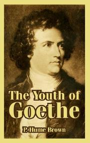 Cover of: The Youth of Goethe