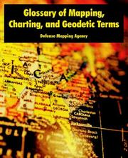 Cover of: Glossary of Mapping, Charting, And Geodetic Terms