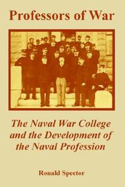 Cover of: Professors of War