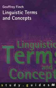 Cover of: Linguistic terms and concepts