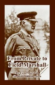 Cover of: From Private to Field-marshall