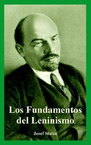 Cover of: Fundamentos Del Leninismo, Los