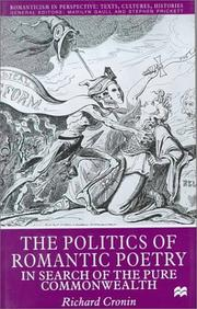 Cover of: The politics of romantic poetry