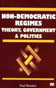 Non-democratic regimes by Paul Brooker