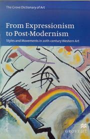 Cover of: From Expressionism to Post-Modernism | Jane Turner