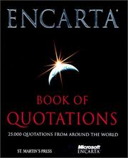 Cover of: Encarta book of quotations |