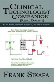 Cover of: Clinical Technologist Companion Renal Dialysis