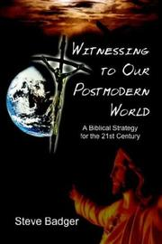Cover of: Witnessing to Our Postmodern World