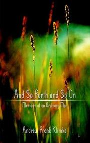 Cover of: And So Forth and So On