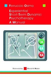 Cover of: EXPERIENTIAL SHORT-TERM DYNAMIC PSYCHOTHERAPY