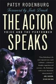 Cover of: The actor speaks