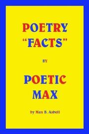 "Cover of: Poetry ""Facts"" By Poetic Max"