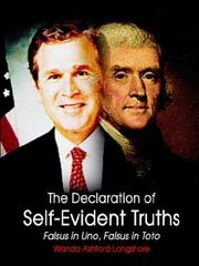 Cover of: The Declaration of Self-Evident Truths