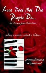 Cover of: Love Does Not Die - People Do