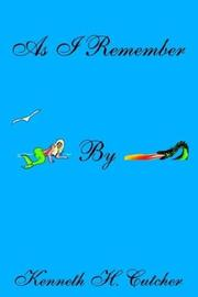 Cover of: AS I REMEMBER